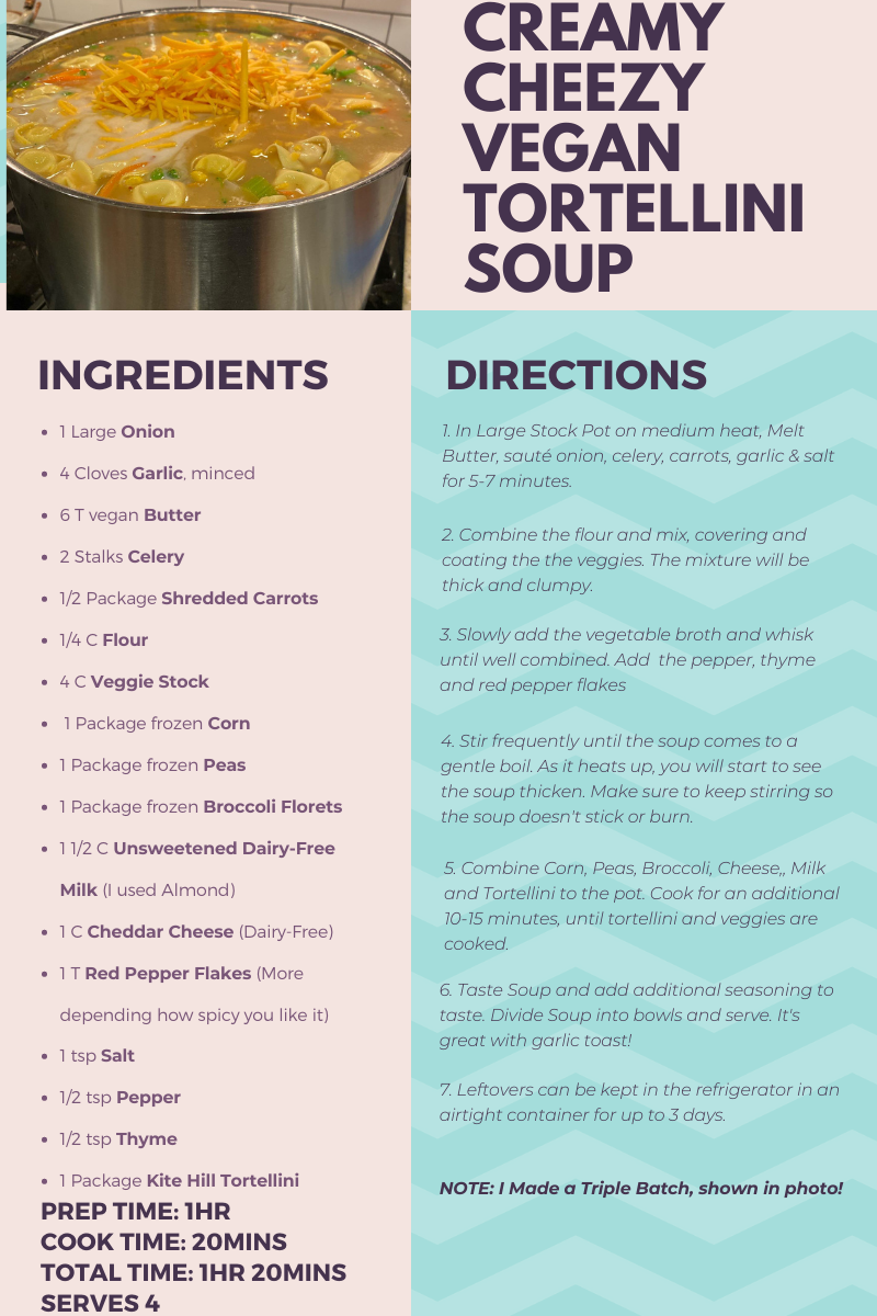 Vegan Tortellini Soup Recipe